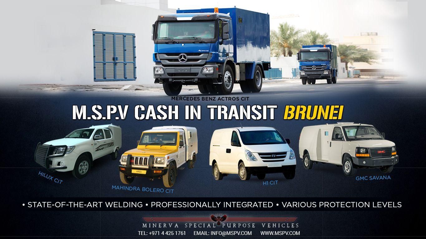 Armoured Cash in Transit BRUNEI | Armoured Vehicles Brunei