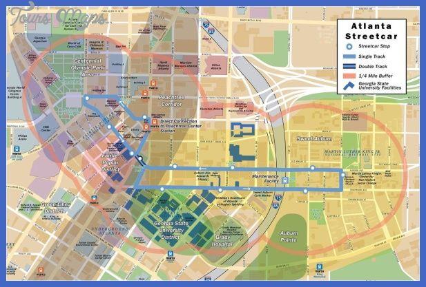 atlanta streetcar route map Atlanta Map Tourist Attractions Atlanta Map Atlanta Tourist atlanta streetcar route map