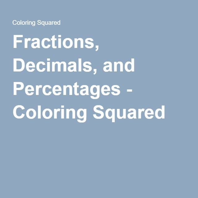 Fractions, Decimals, and Percentages | Pinterest | Math and Worksheets