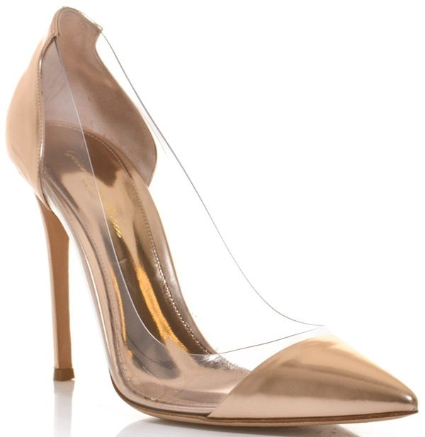 f316ec938e52 Who Looks Best in Metallic Heels  Brittany Snow or Jamie Chung ...