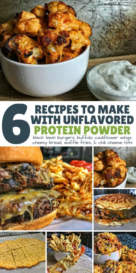 6 Unflavored Protein Powder Recipes: Wings, Tots, Fries, Burgers, and More