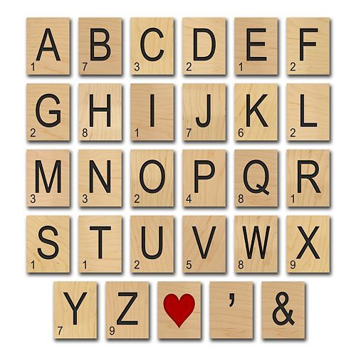 Game Tile\'\' Alphabet Wall Art | House | Pinterest | Alphabet wall ...