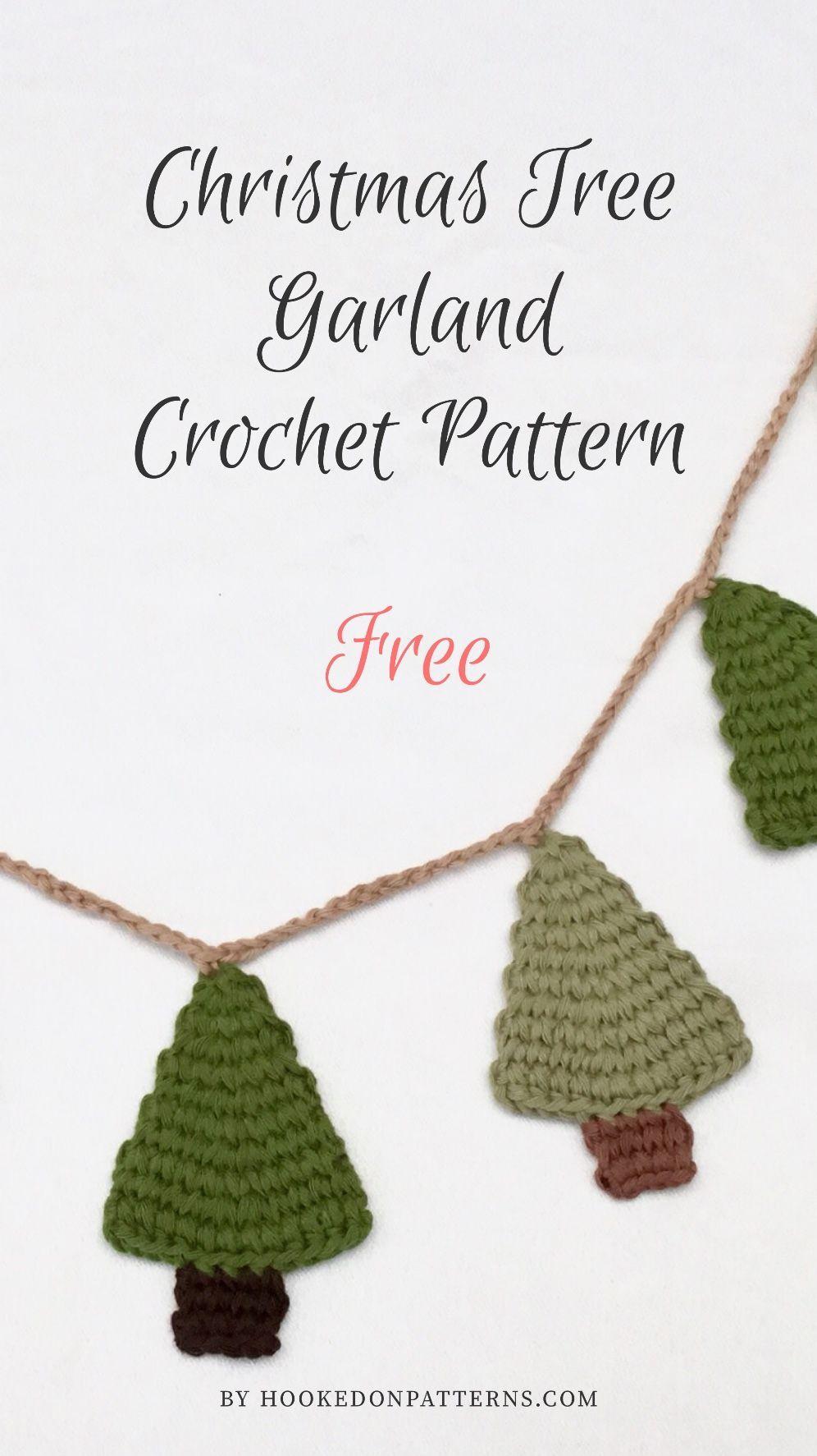 Free Crochet Christmas Tree Garland Pattern Crochet Xmas Crochet Christmas Decorations Free Christmas Crochet Patterns