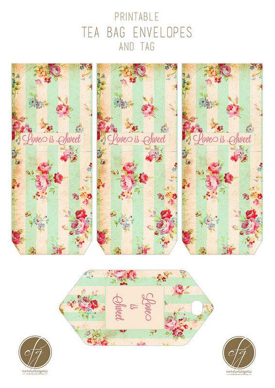 Printable Tea Bag Envelopes And Tag Copy