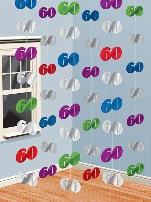 60th Birthday Party Decorations Hanging Swirls Decoration Buy