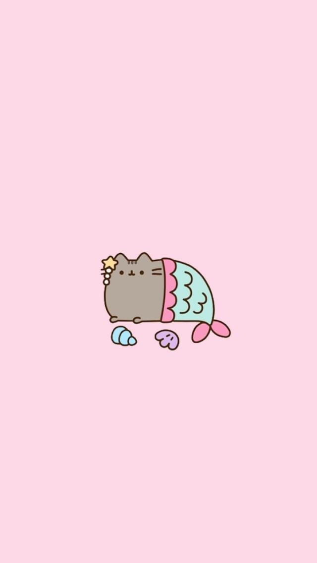 Pusheen and a mermaid man love it Mermaid wallpapers