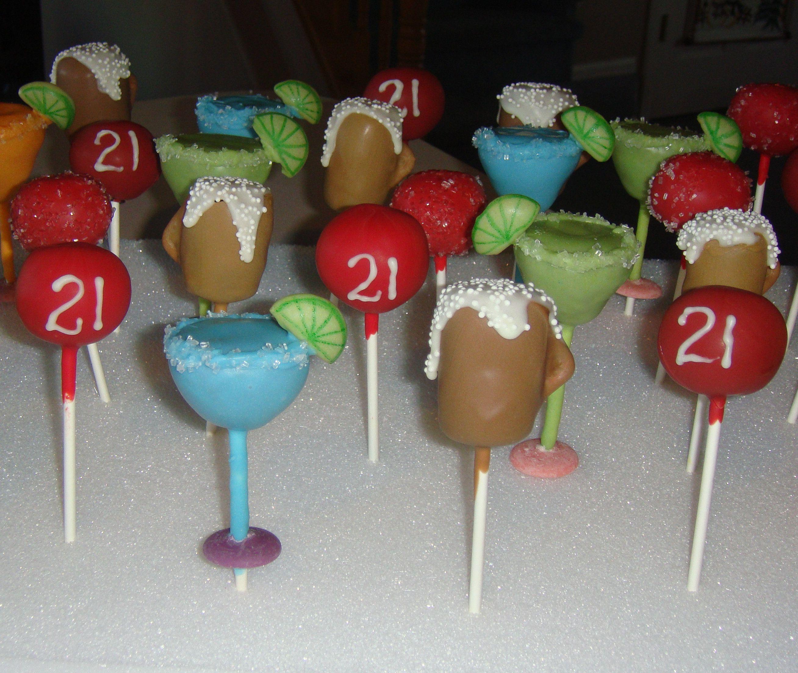 21st Birthday Cake Pops