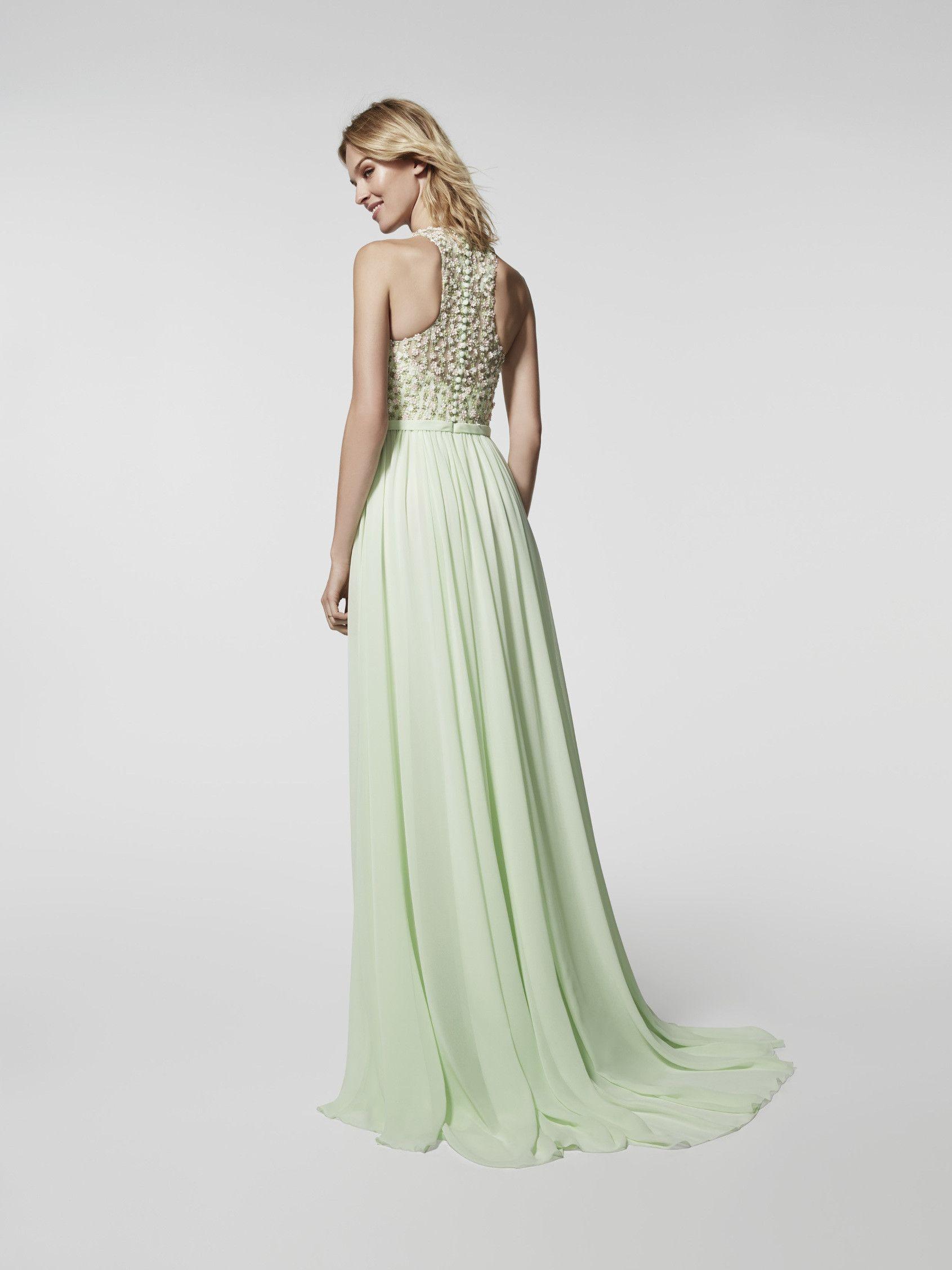 Bild Abendkleid grün (12). Modell GRIDA lang ärmellos  Vestido