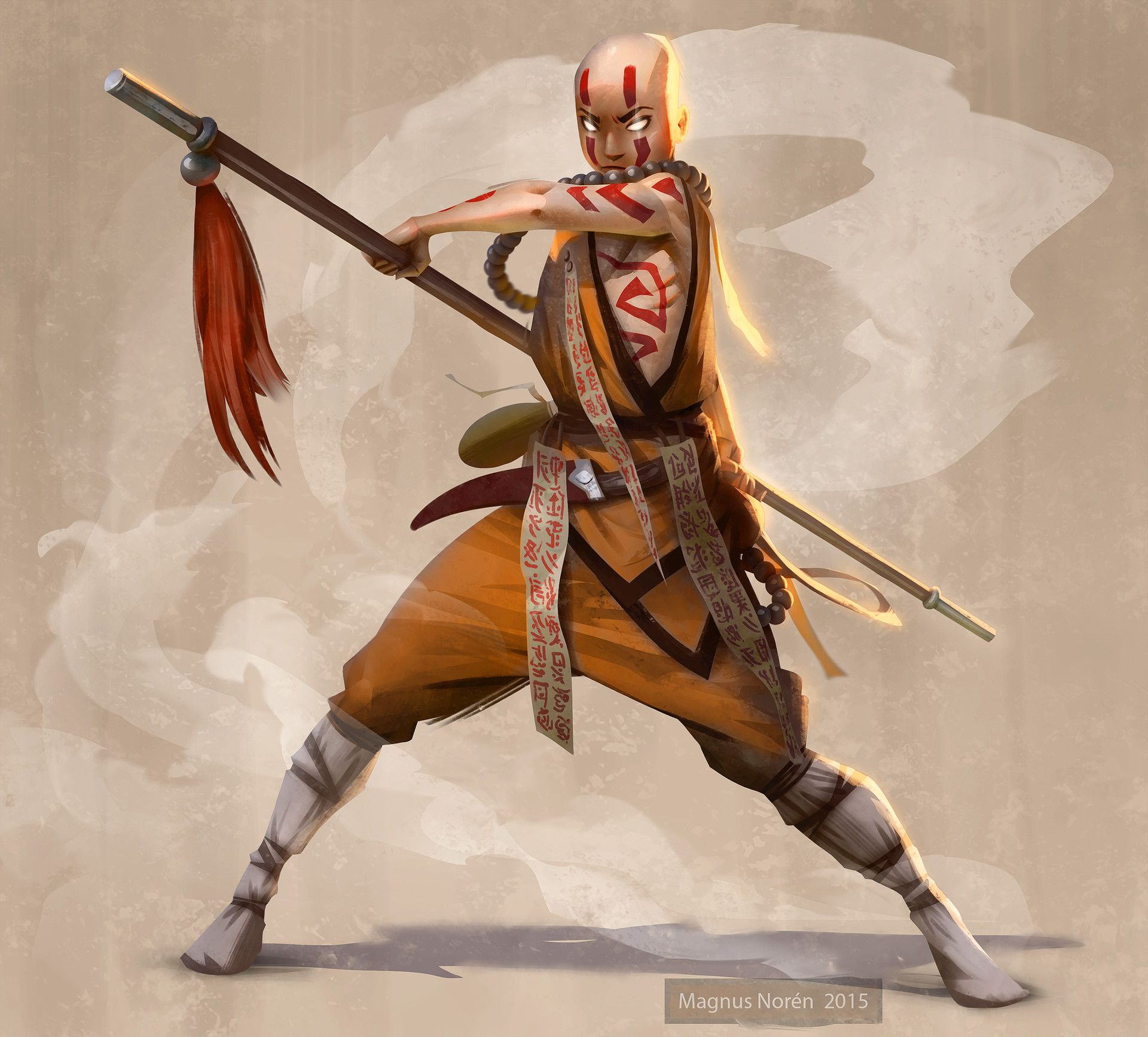 Shaolin Monk By Magnus Noren Character Design Drawing