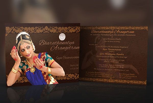 Sajee Dance Arangetram Invitation Thumb Invitations In 2019