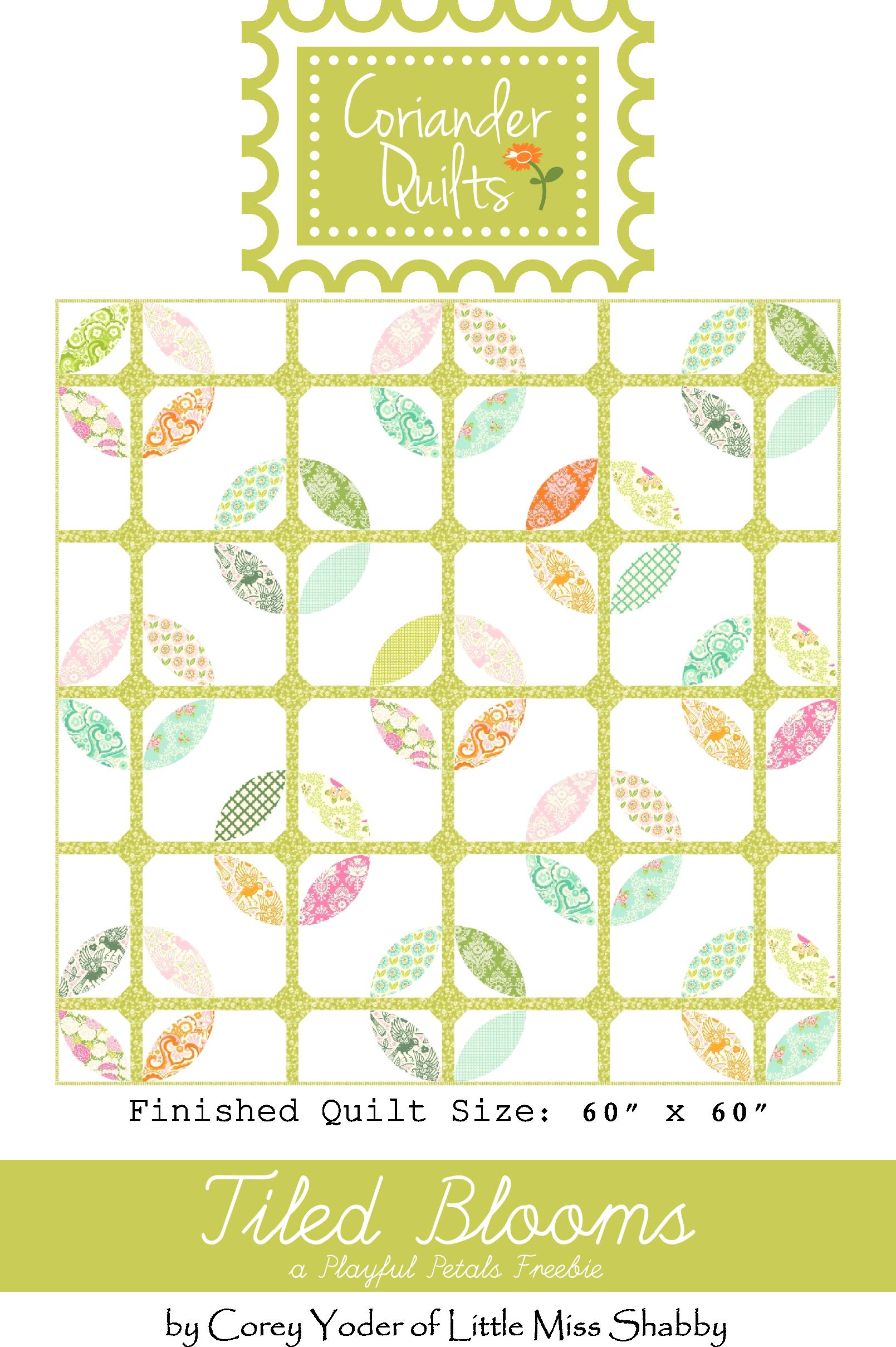 Tiled Blooms Free Pattern