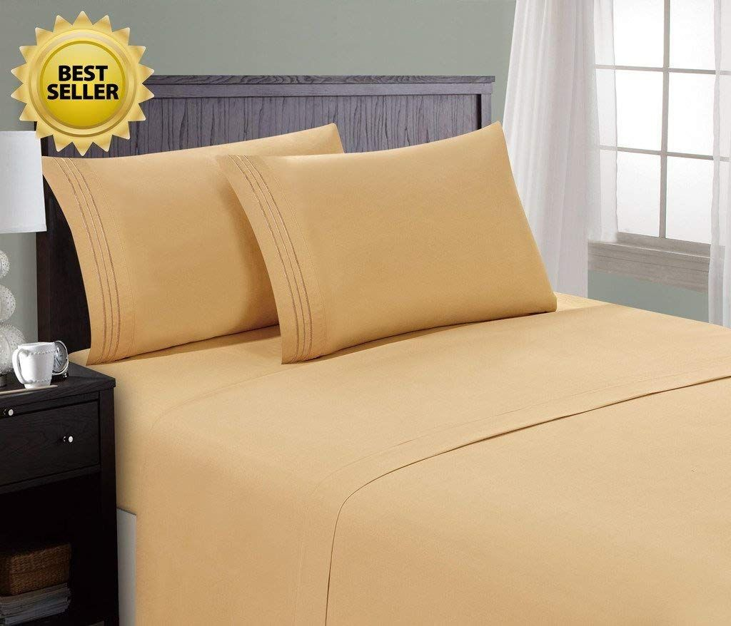 Hc Collection Hotel Luxury Comfort Bed Sheets Set 1800 Series