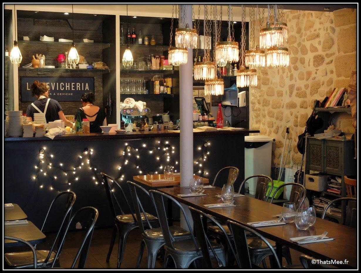 La Déco de la Cévicheria, restaurant à Paris, France resto poisson ...