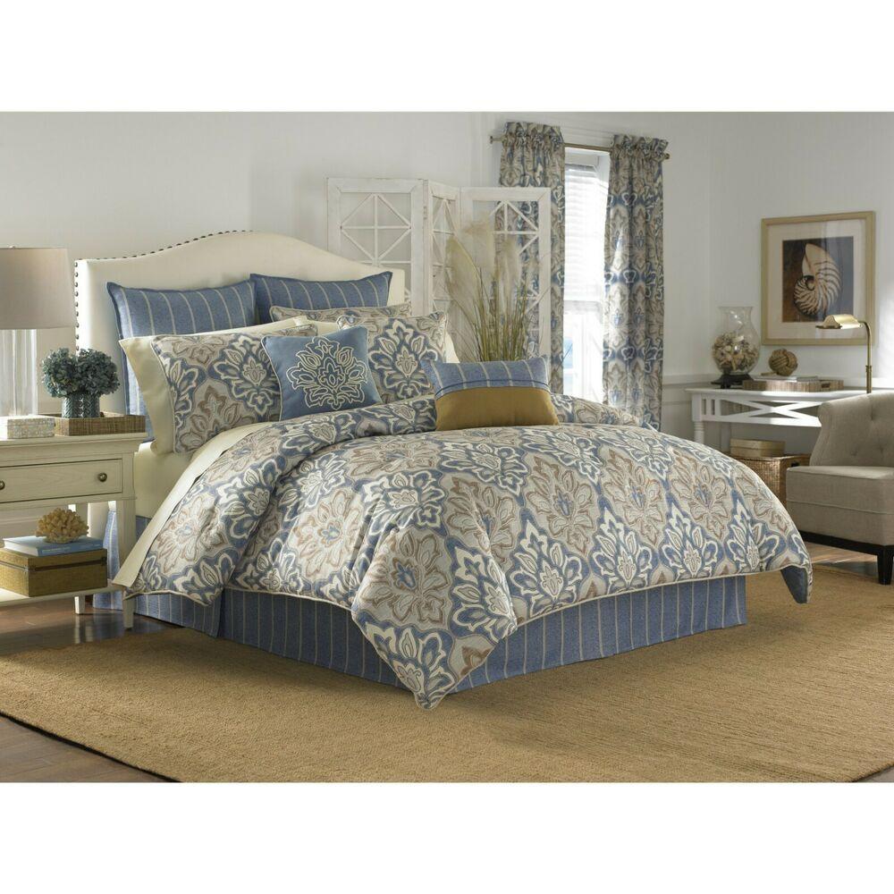 Croscill Home Captain S Quarters 4 Piece King Comforter Set Beige Blue 420 Croscill Comforter Sets Small Space Interior Design Interior Design Living Room