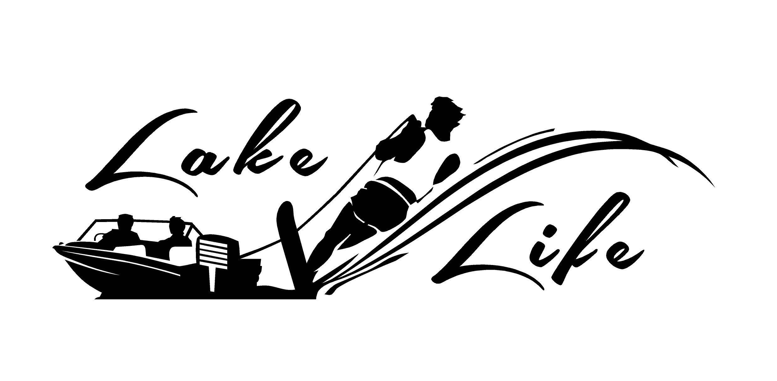 Lake Life Decal Water Skier decal Boat Decal Vinyl Decal