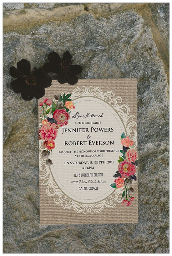Top 10 Chic Country Rustic Wedding Invitations With Free RSVP Cards