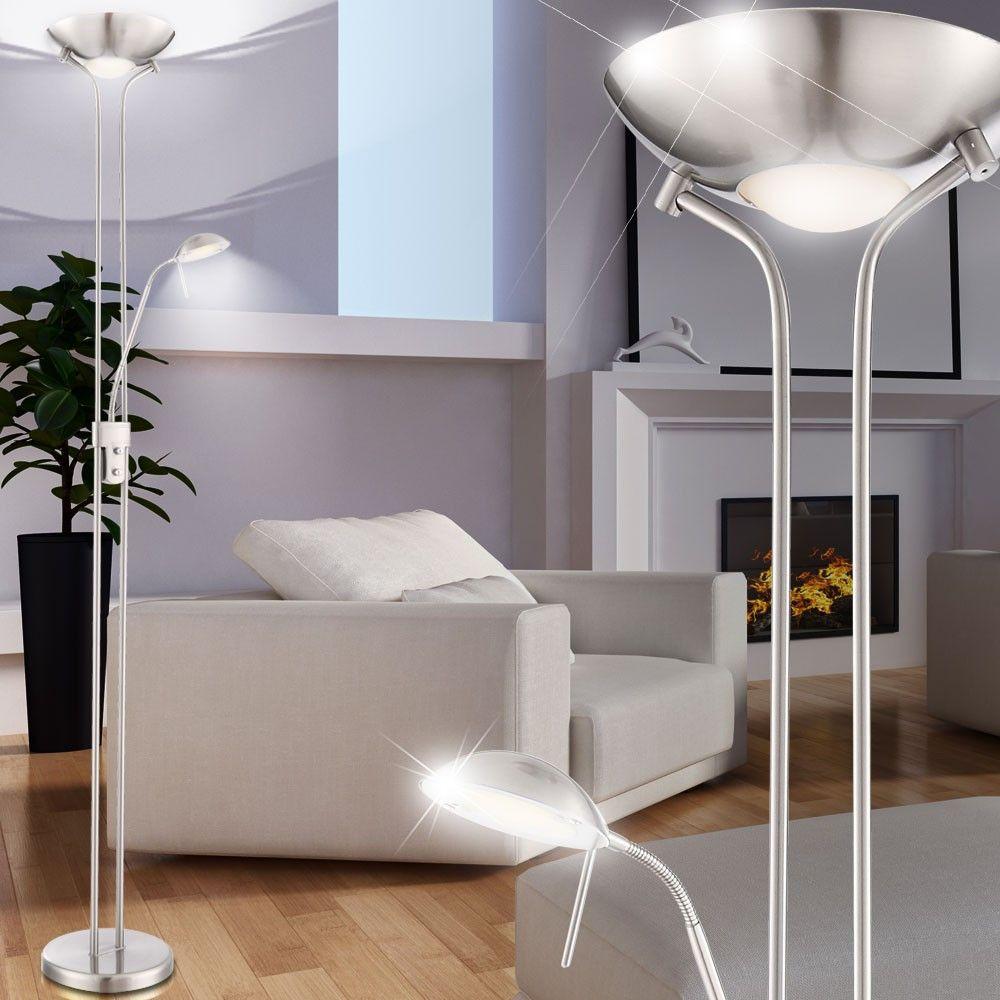 LED Deckenfluter Standleuchte Wohnzimmer Leselampe Stehleuchte