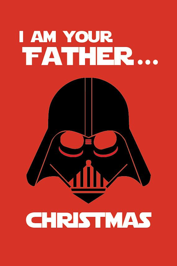 Best Star Wars Inspired Christmas Card Ever Printable Or Ecard Printable Christmas Starwars Star Wars Christmas Star Wars Christmas Cards Star Wars Diy