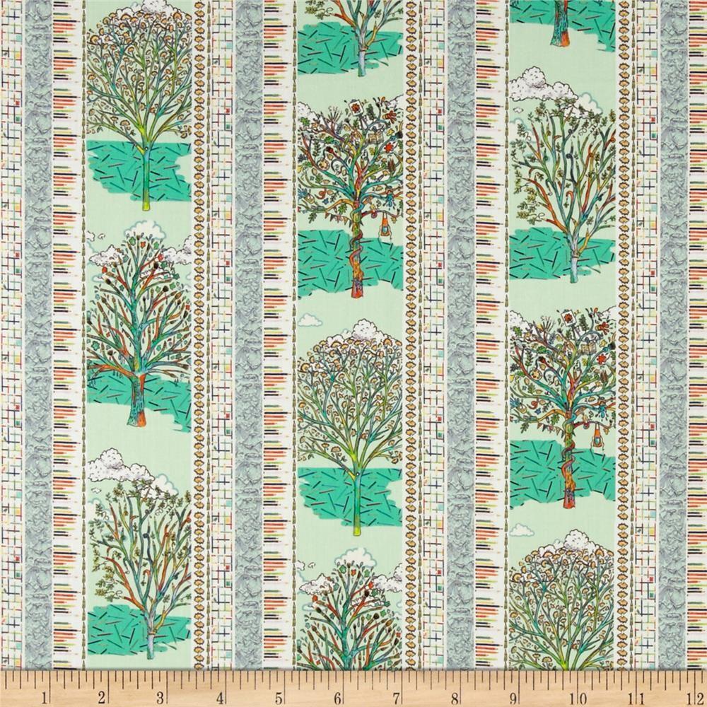 Liberty Of London Tana Lawn Forest Stripe Lime 33 Cotton Lawn