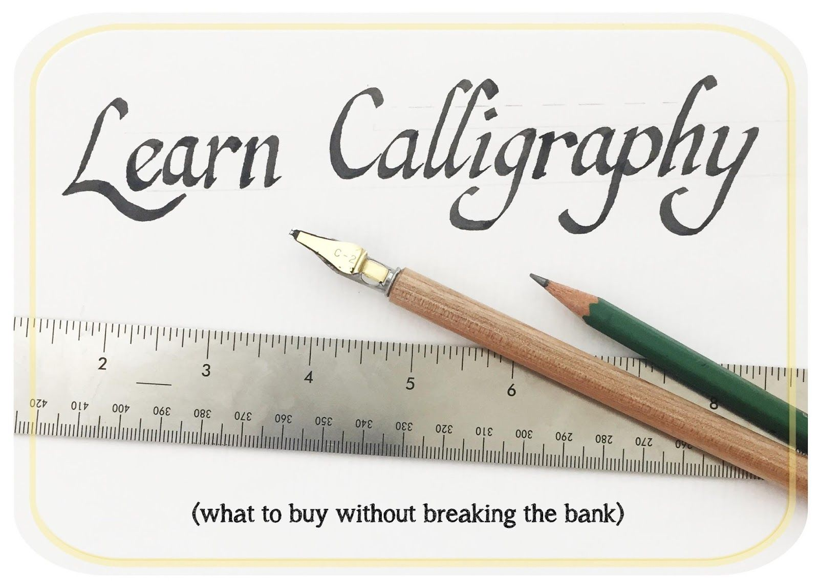 Calligraphy Course - How To Get Started With The Basic