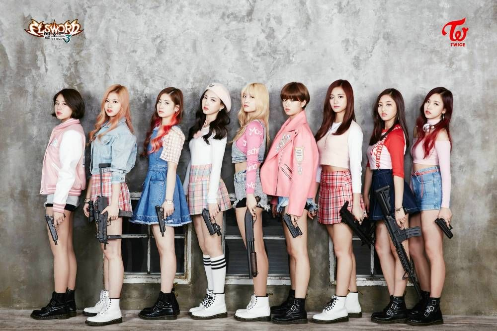 Twice Are Dressed To Kill For A Badass Pictorial With Elsword Allkpop Com Kpop Girls Kpop Outfits Twice Kpop