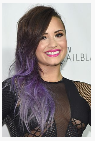 Ombre to purple.
