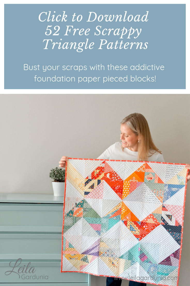 52 Free 6 Scrappy Triangle Patterns These Foundation Paper Pieced Quilt Block Patterns Are Fun Easy And Begin Scrap Quilt Patterns Coverlet Bedding Pattern