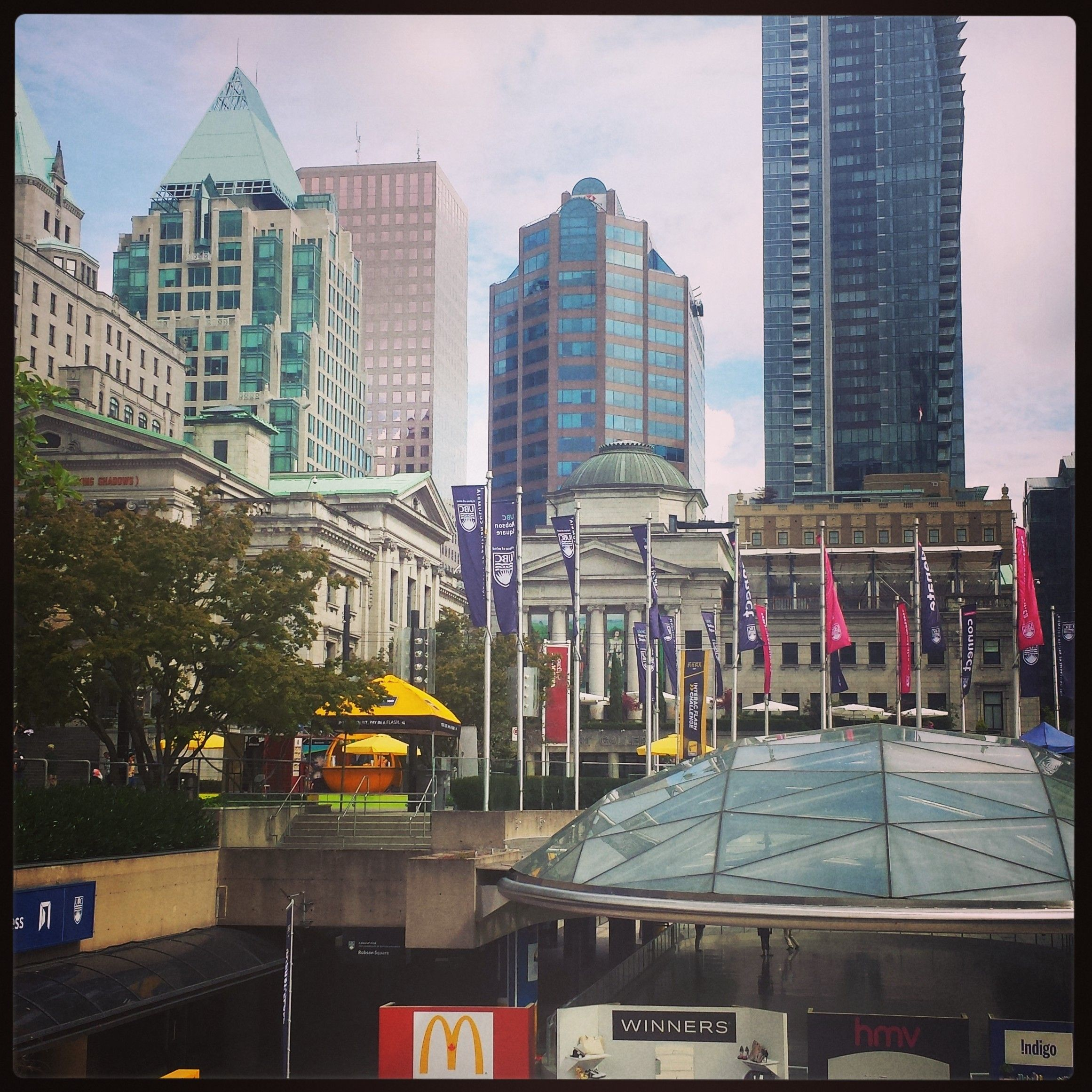 Yaletown Vancouver: Robson Square. #Vancouver #Yaletown