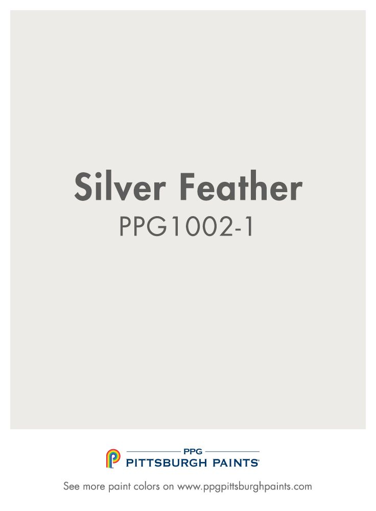 Silver Feather Ppg1002 1 From Ppg Pittsburgh Paints When Used In The Right Way Whites Can Be Very Modern And Clean