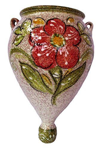 Spanish Orza Spanish Campo Cactus Canyon Ceramics Wall Planter - Hand Painted in Spain
