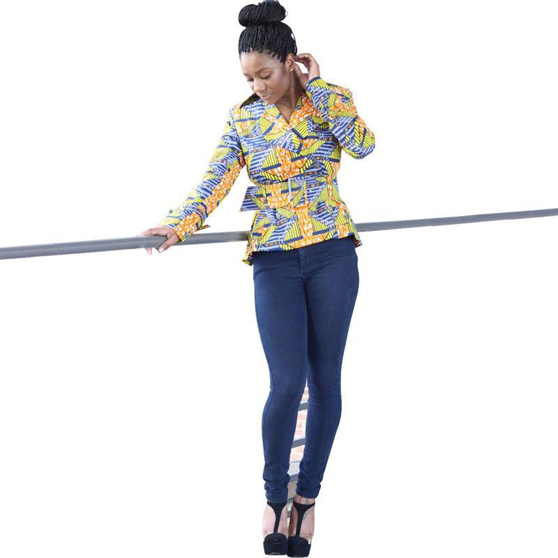 spring autumn 2016 African dresses for women dashiki ankara clothing fashion coat batik wax printing jacket cotton free shipping