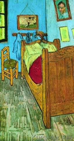 Vincent van Gogh - The Artist\u0027s Bedroom at Arles Yağlıboya