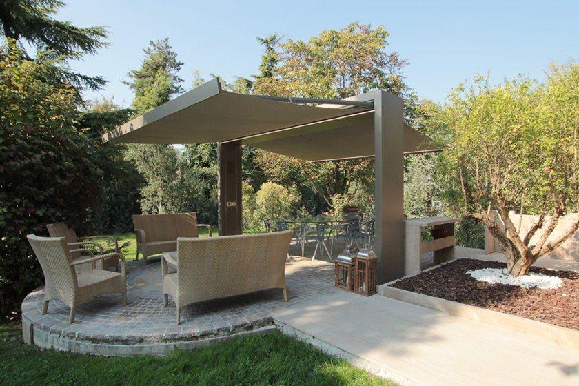 Freestanding Motorized Folding Arm Awning Gate Shade By Unosider Deck Designs Backyard Pergola Patio Patio