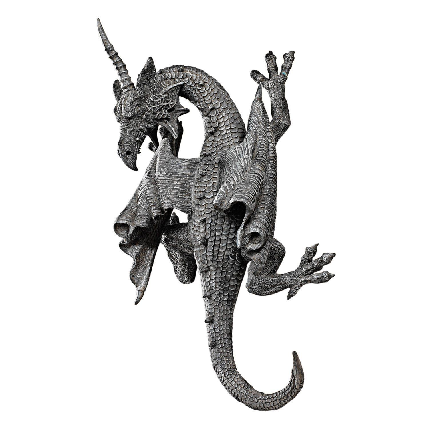 Dragon wing statue wall hanging art sculpture medieval gothic