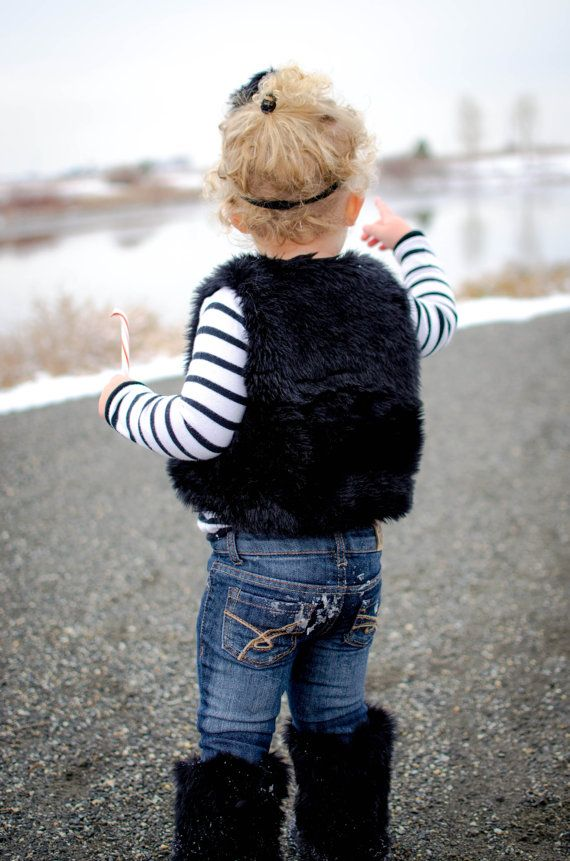 Adorable Set for Photo Shoots! Luna Toddler Vest & Jet Black Faux ...