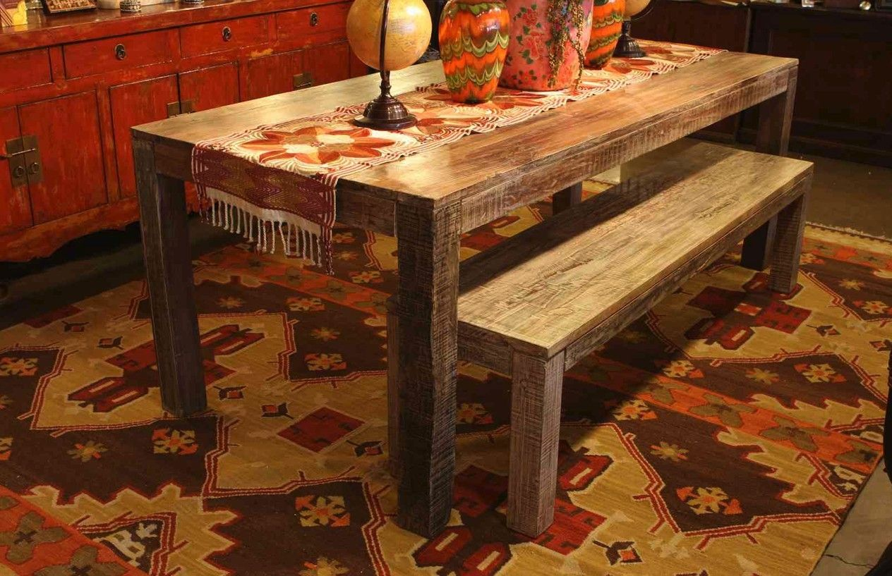 Custom Made Salvaged Old Boat Wood Dining Table by Mortise & Tenon ...