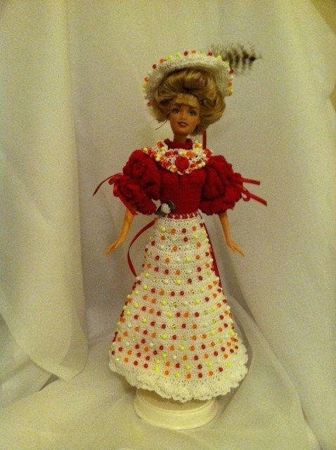 Robe perlée  Gibson-Girl  pour Fashion par ChesapeakeBayCrochet