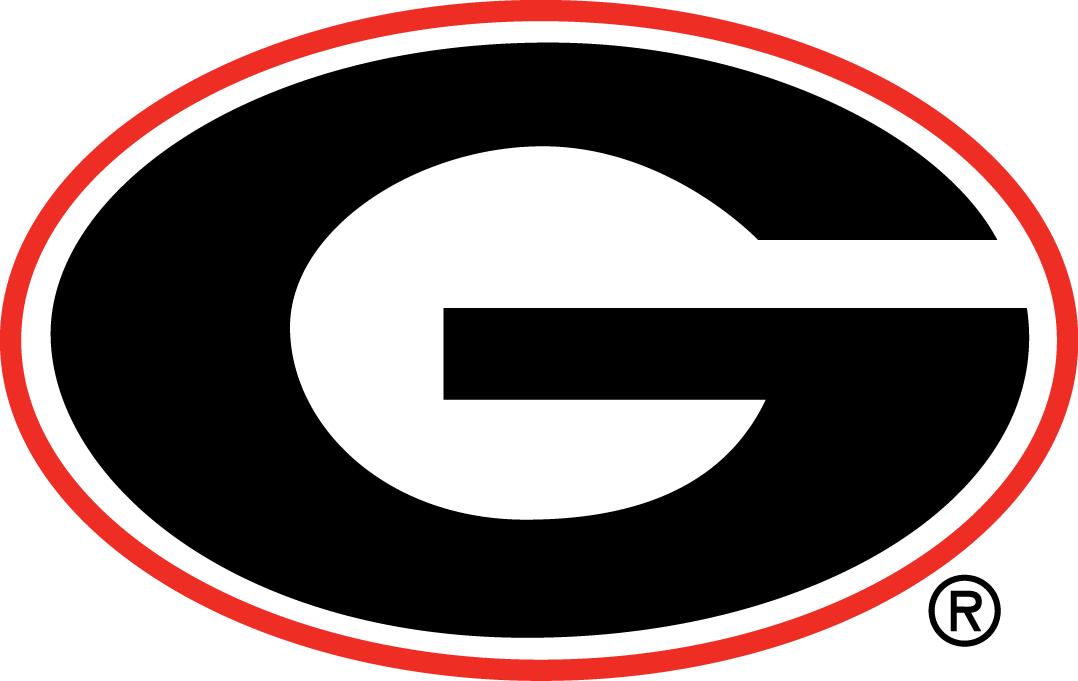 Georgia Bulldogs Primary Logo 1964 A Black G In A Red Oval Updated Georgia Bulldogs Football Georgia Football Georgia Bulldogs