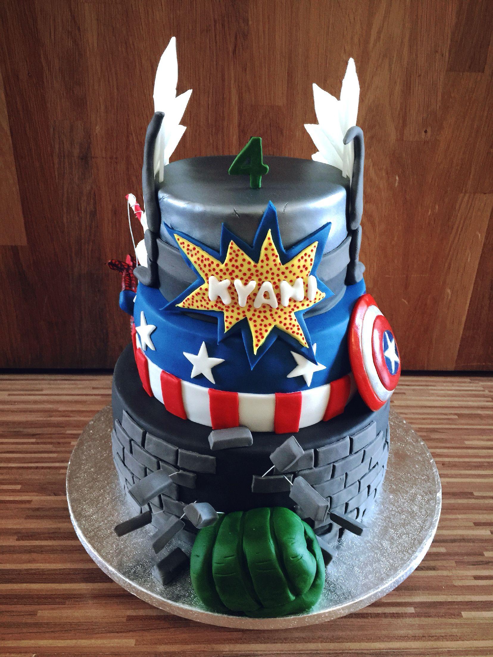 The Avengers Cake Marvel Captain America Hulk Ironman Thor