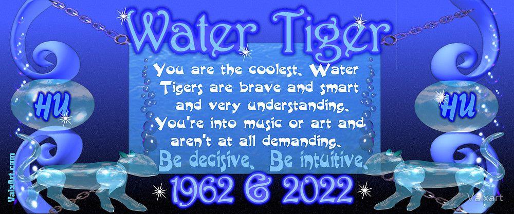 2022 Astrology Calendar.1902 1962 2022 Chinese Zodiac Born In Year Of Water Tiger By Valxart Chinese Zodiac Chinese Zodiac Tiger Zodiac