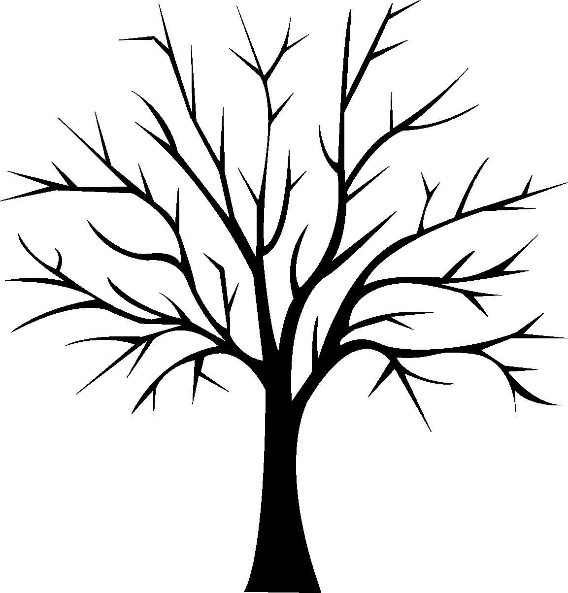 arbre1 1153—1204 Coloriage ArbreGabaritAutomne