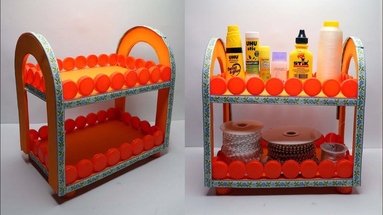 Ide Kreatif Tutup Botol Bekas Jadi Rak Yang Sangat Cantik Home