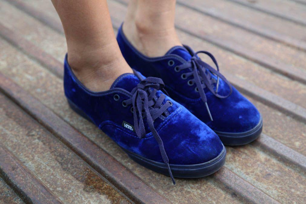 vans blue velvet