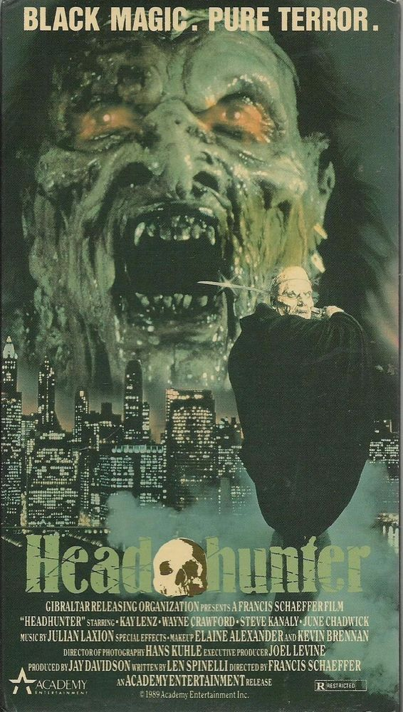 vhs HEAD HUNTER Headhunter used A voodoo demon from Africa - how to find a head hunter
