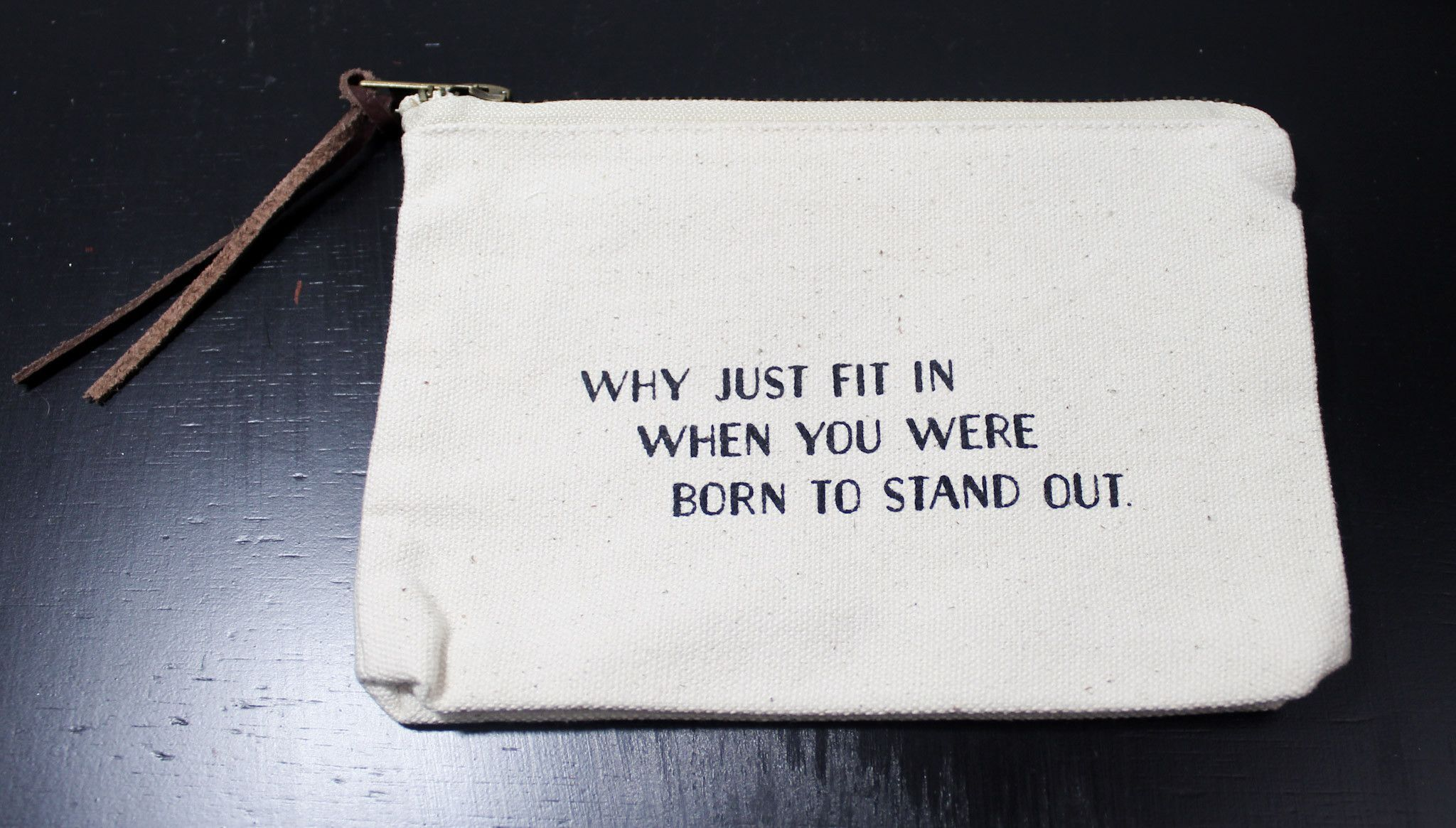 Canvas Pouch (Stand Out)