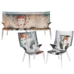 Transparent Polycarbonate Chairs Intex Inflatable Pull Out Chair Set Of David Bowie Ghost And Sofa