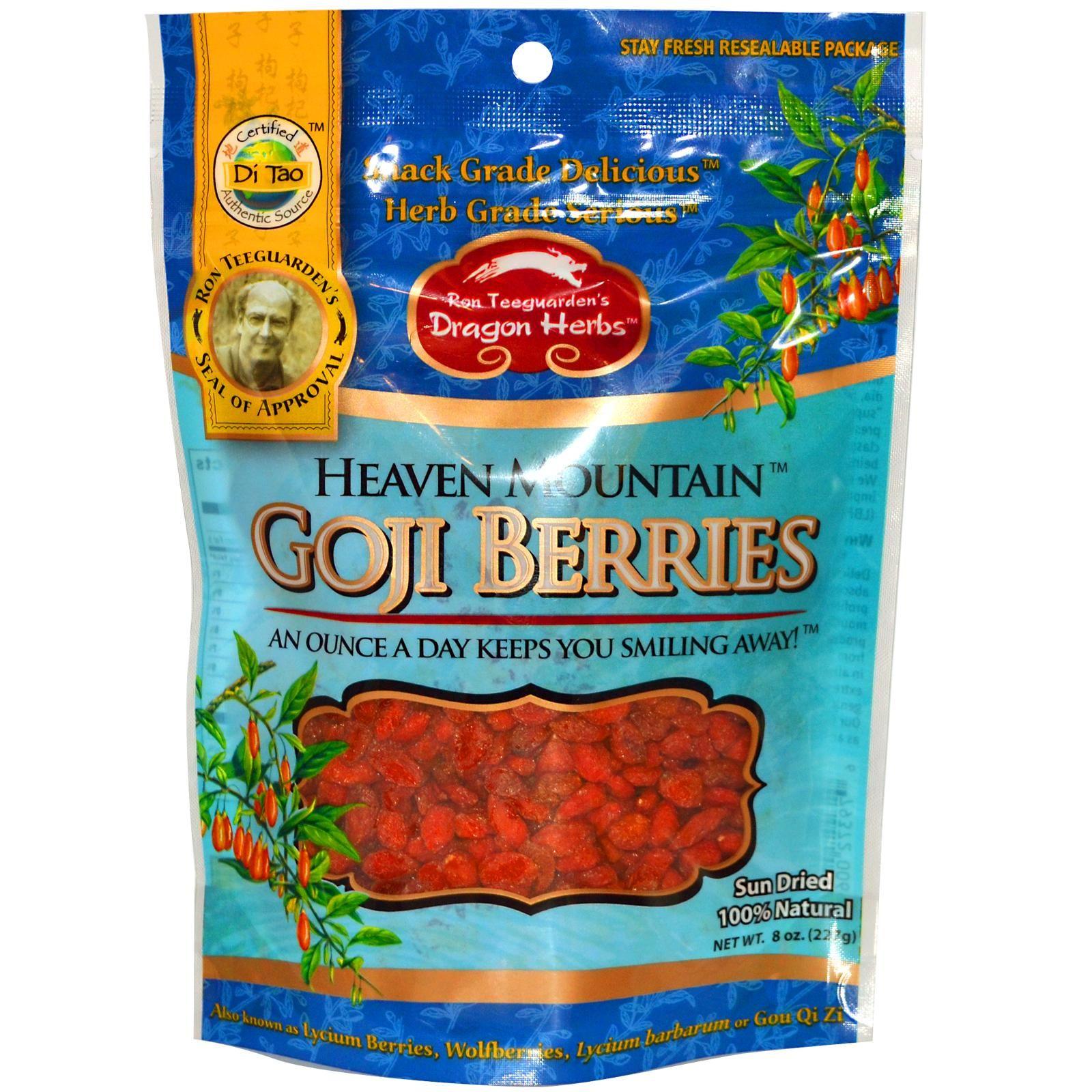 Dragon Herbs, Heaven Mountain Goji Berries, 8 oz (227 g