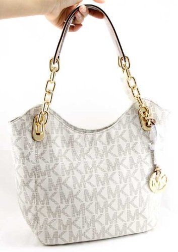 Michael Kors Lilly Vanilla Signature Large Tote PVC