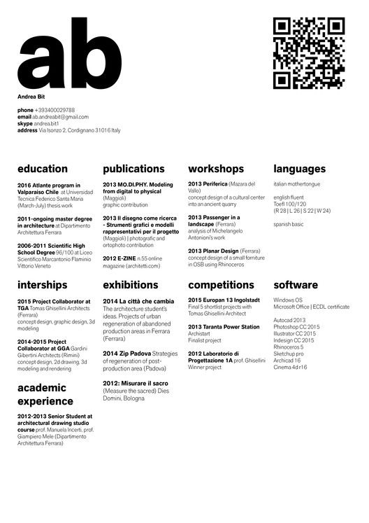 Gallery of The Top Architecture Résumé/CV Designs - 2 | Work ...
