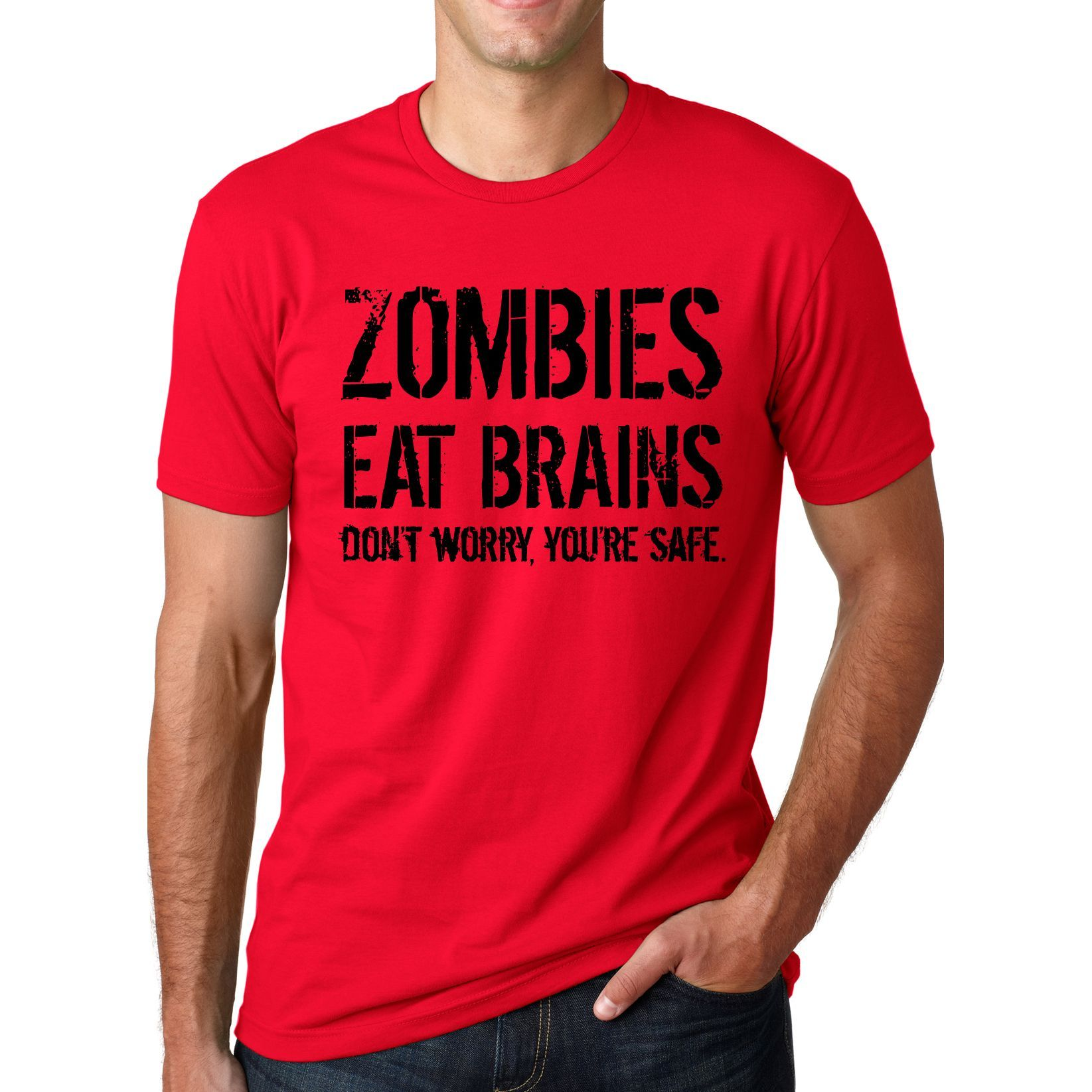 aefa21f4f Men's Zombies Eat Brains T-shirt   Products   Funny shirts, Team t ...